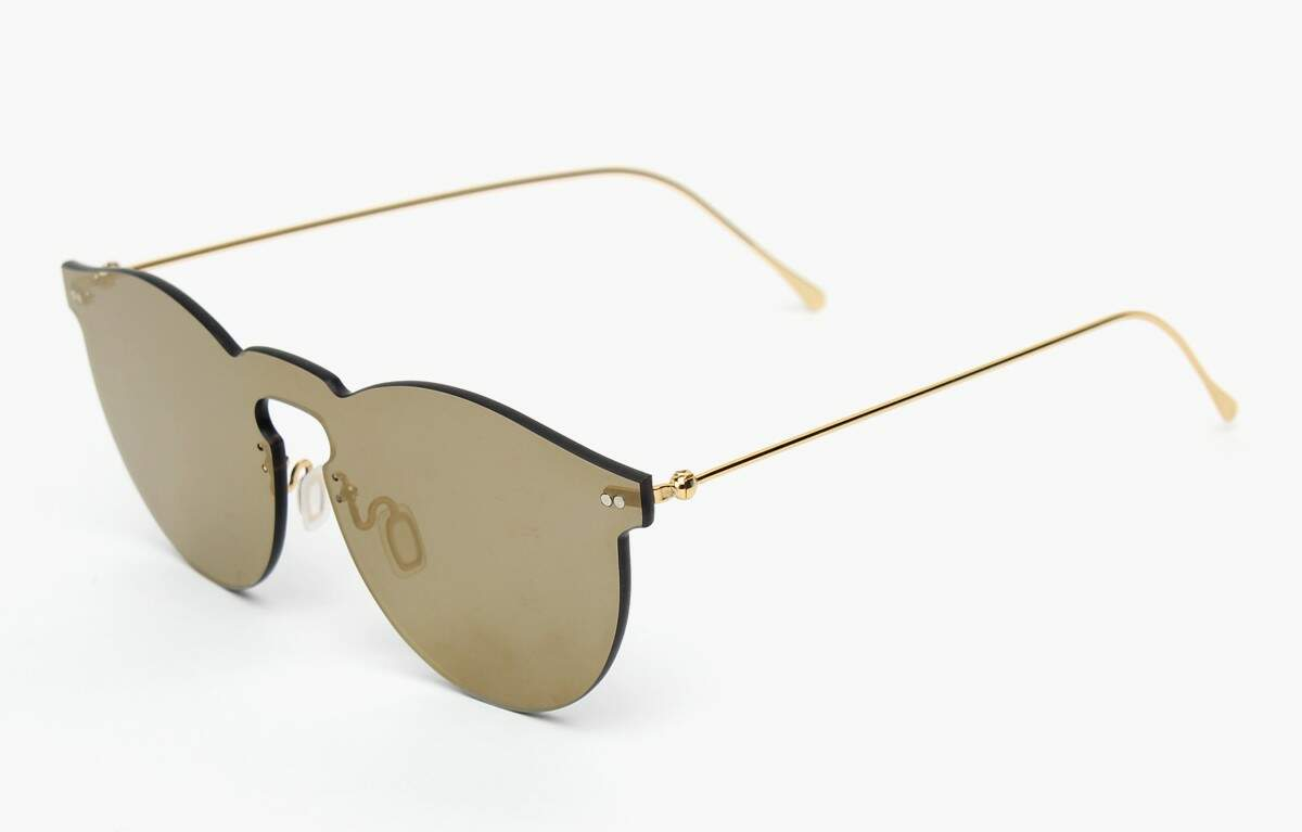 Leonard Mask with Gold Mirrored Lenses
