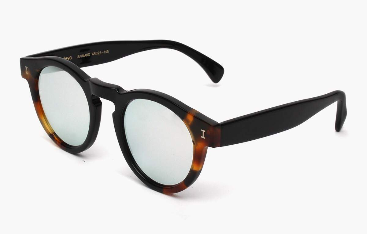 Leonard Split Burnt Tortoise With Silver Mirrored Lenses