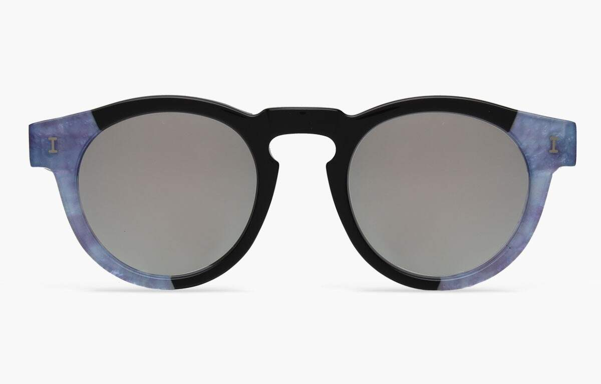Leonard Split Blue Pearl With Silver Mirrored Lenses