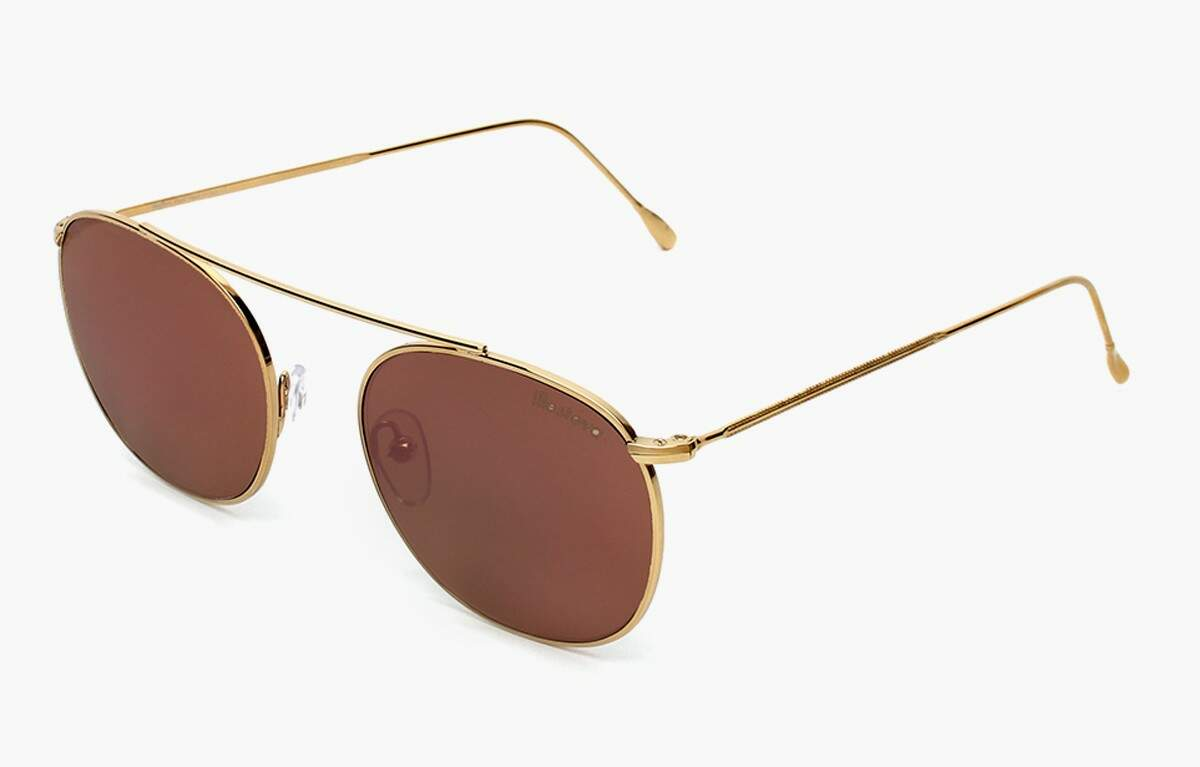 Mykonos Gold With Rose Mirrored Lenses