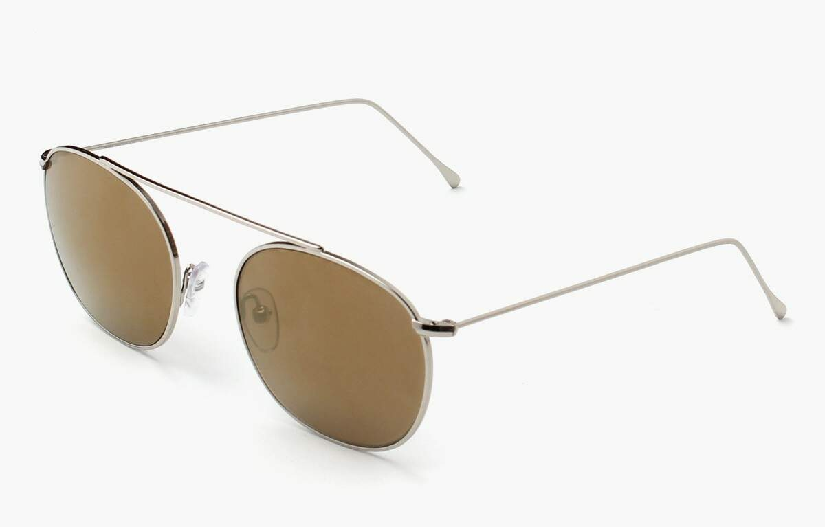Mykonos Silver with Gold Mirrored Lenses