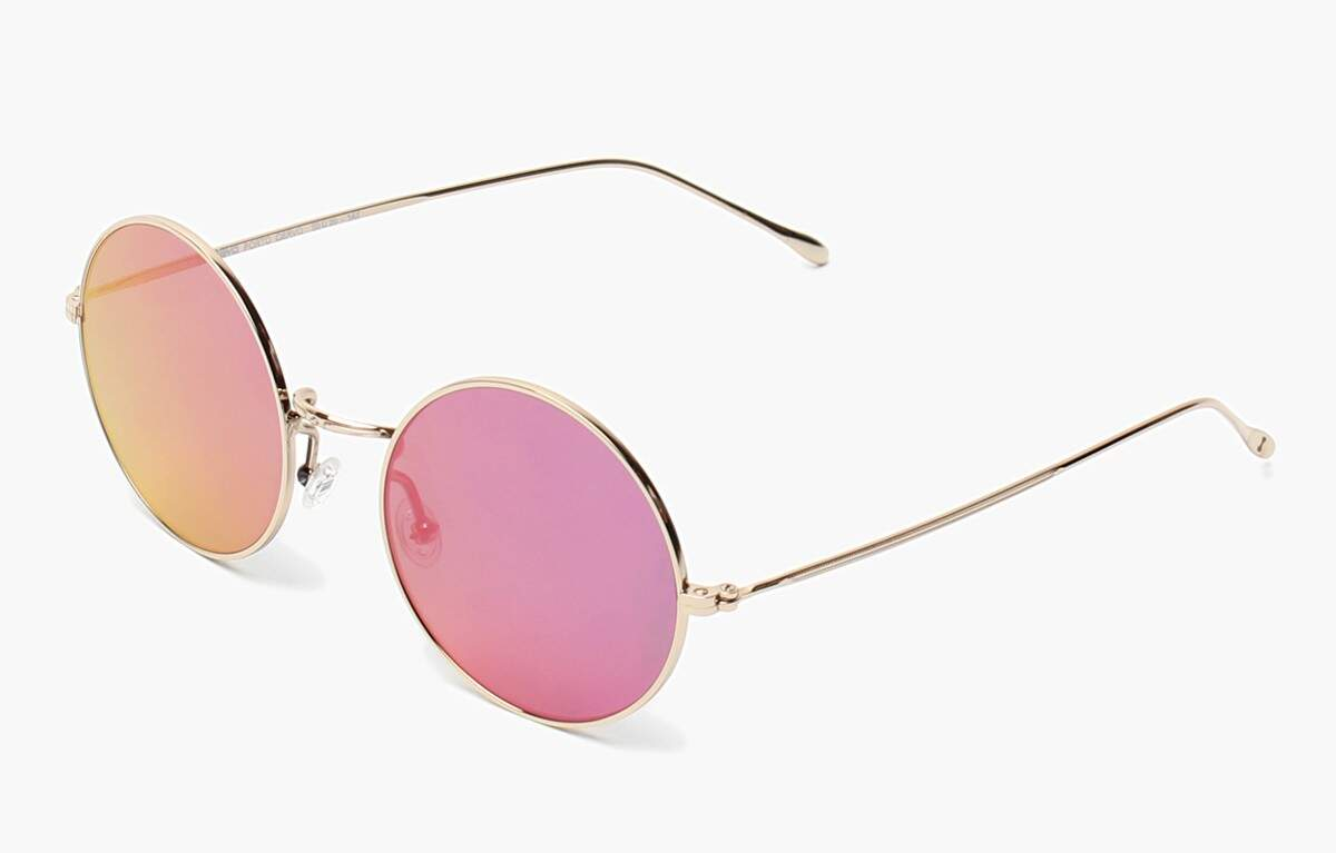 Porto Cervo Gold with Pink Mirrored Lenses