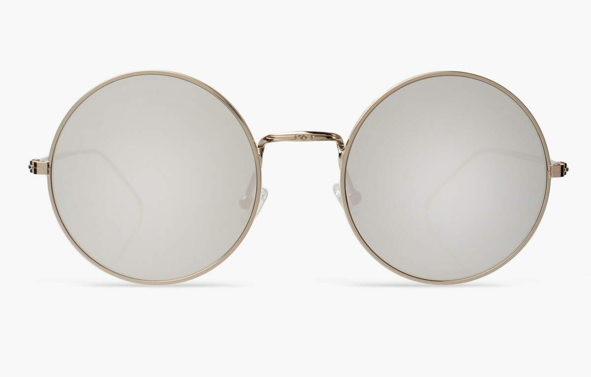 Porto Cervo Gold with Silver Mirrored Lenses