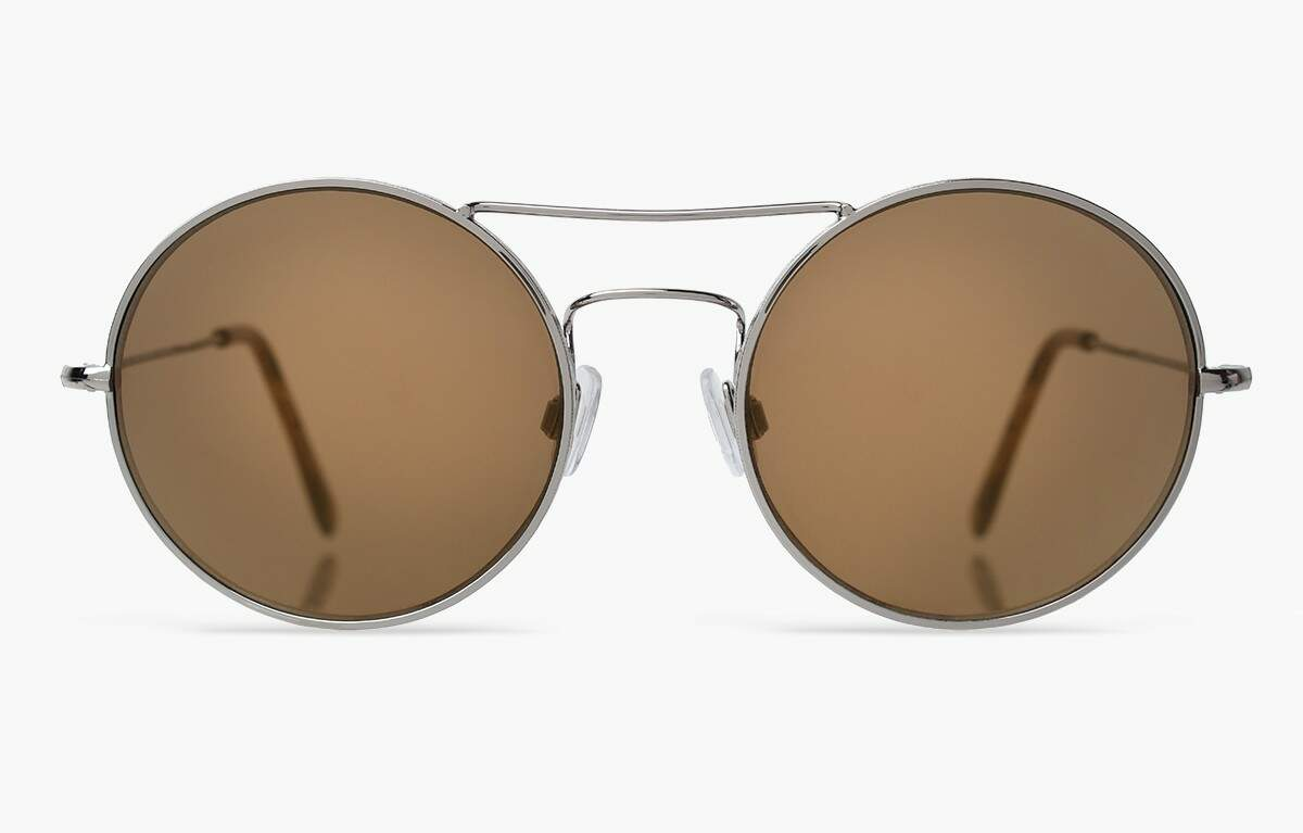Delon Silver with Gold Mirrored Lenses