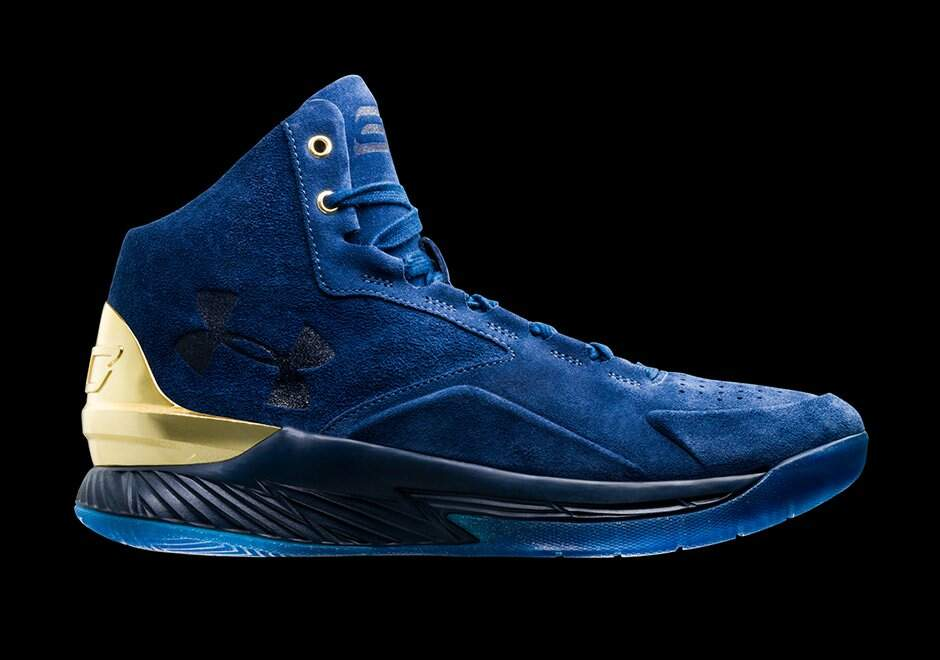 Curry 1 Lux MID Blackout Navy / Gold / Blackout Navy Masculino