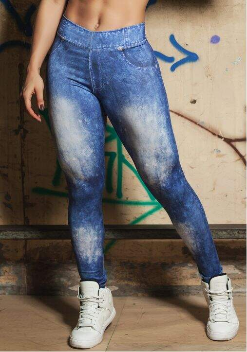 Legging Estampa Jeans DL