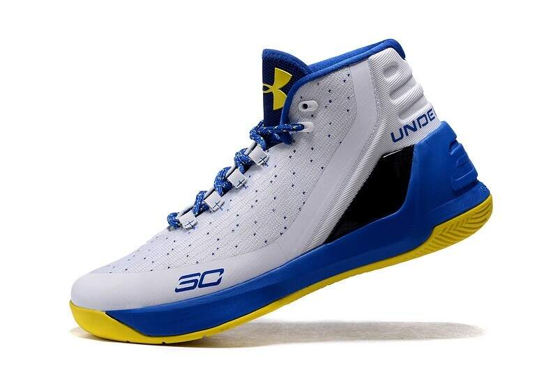 Curry 3 White / Ultra Blue / Ultra Blue Infantil