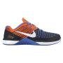 Metcon DSX Flyknit Black / White / Total Crimson / Medium Blue Feminino