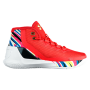 Curry 3 Red / Aluminum / Black Infantil