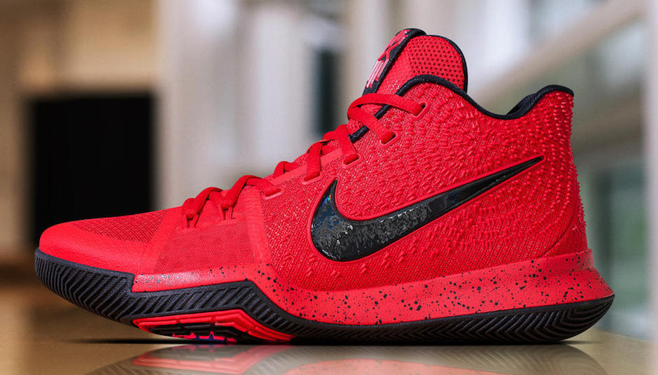 Kyrie 3 University Red / Black / Team Red Masculino