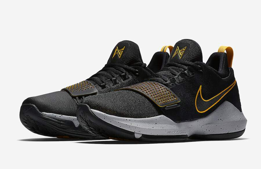 PG 1 Black / University Gold / Wolf Grey Masculino