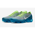 Air VaporMax Flyknit Wolf Grey / White / Chlorine Blue / Photo Blue Masculino