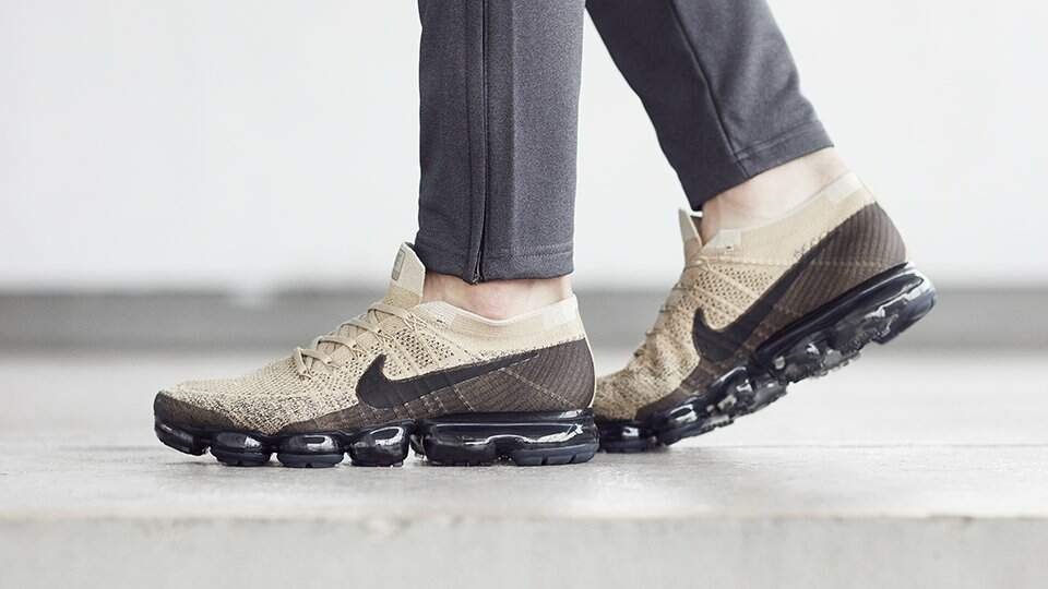 Air VaporMax Flyknit Khaki / Anthracite / Pale Grey / Black Masculino
