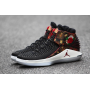 Jordan AJ XXXII Mid Black / University Red / White / Metallic Gold Masculino