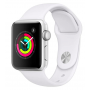 Apple Watch Series 3 Silver Aluminum Case with White Sport Band 38mm