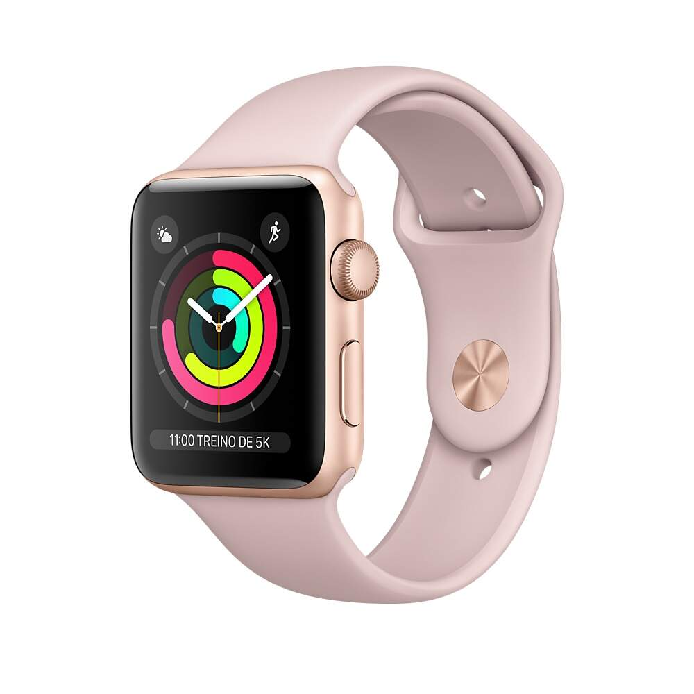 Apple Watch Series 3 Gold Aluminum Case with Pink Sand Sport Band 42mm