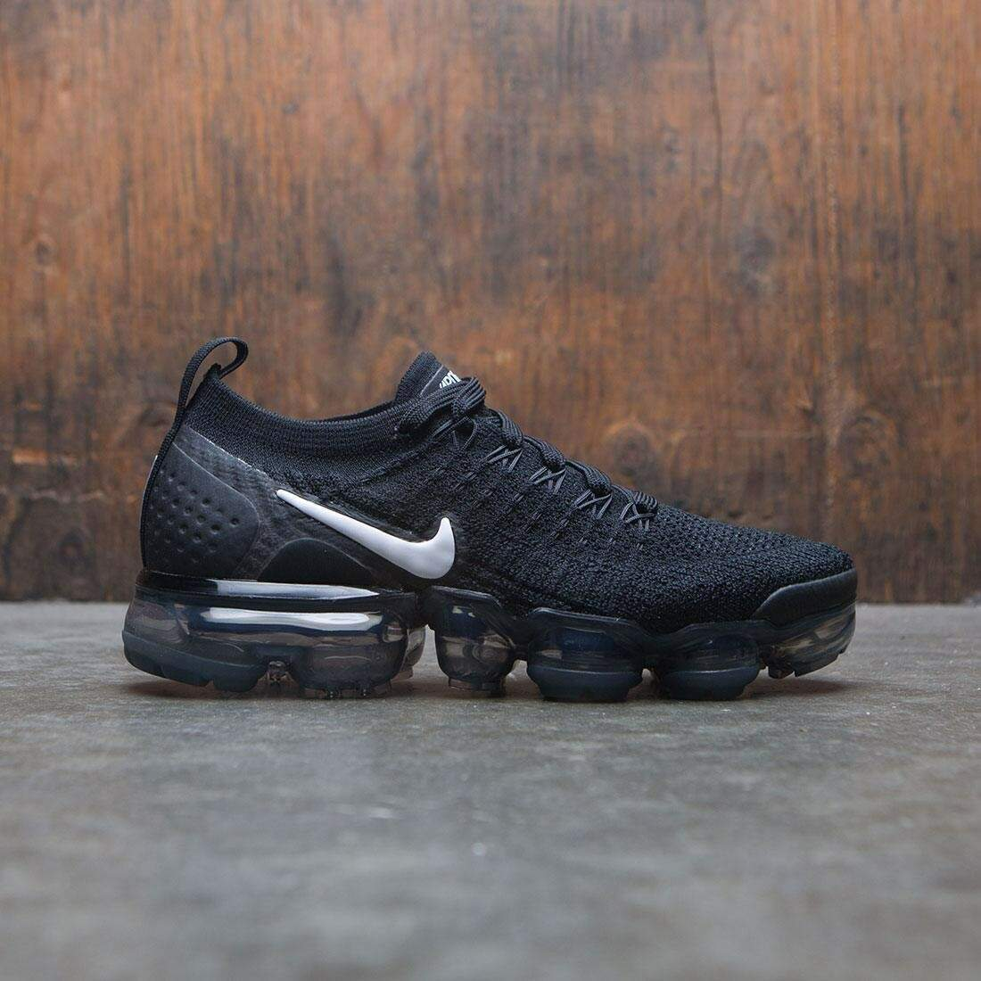 Air VaporMax 2 Flyknit Black / Dark Grey / Metallic Silver / White Masculino