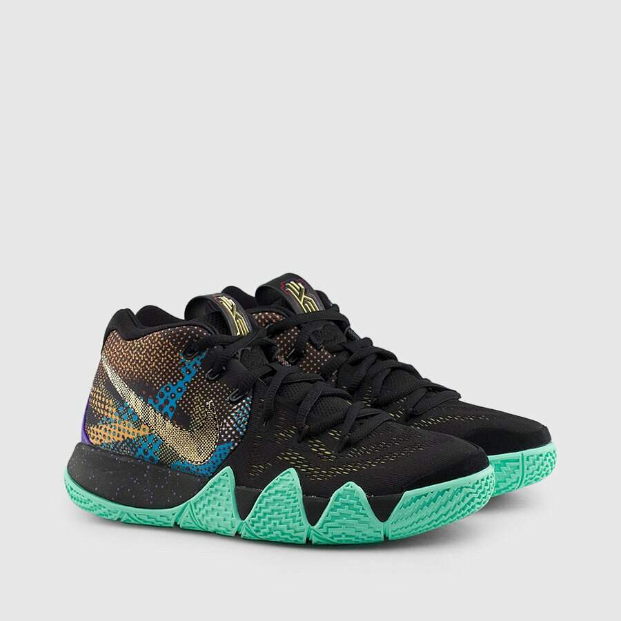 Kyrie 4 Black / Sonic Yellow / Purple Venom Masculino