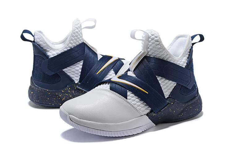 LeBron Soldier 12 SFG White / Midnight Navy / Mineral Yellow Masculino