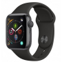 Apple Watch Series 4 Space Grey Aluminum Case with Black Sport Band 44mm