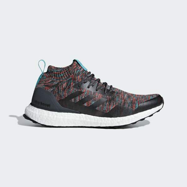 UltraBoost MID Solid Grey / Hi Red Masculino