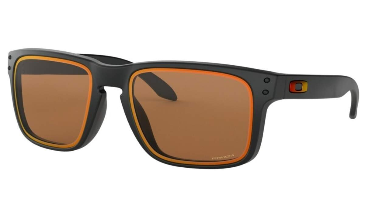 Holbrook Matte Black / Prizm Bronze edicao limitada Fire and Ice Collection OO9102-G855