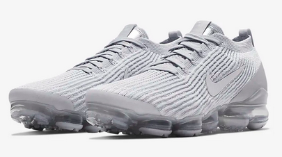 Air VaporMax 3 Flyknit White / Pure Platinum / Metallic Silver  /White Masculino