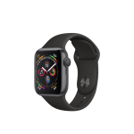 Apple Watch Series 4 Space Grey Aluminum Case with Black Sport Band 40mm