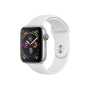Apple Watch Series 4 Silver Aluminum Case with White Sport Band 44mm