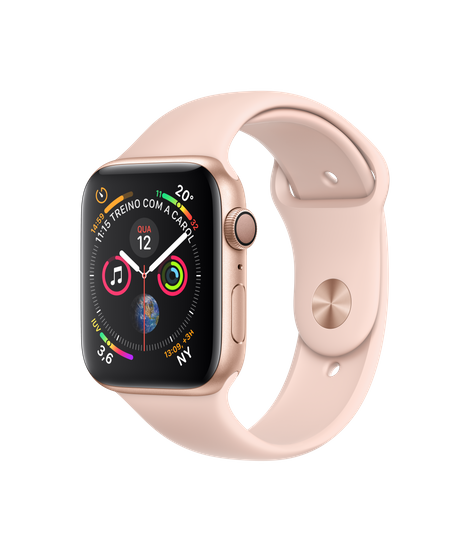 Apple Watch Series 4 Gold Aluminum Case with Pink Sand Sport Band 44mm