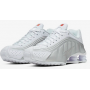 Shox R4 White / Metallic Silver / Max Orange / White Feminino