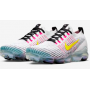 Air VaporMax 3 Flyknit White / Hyper Turquoise / Pink Blast / Dynamic Yellow Masculino