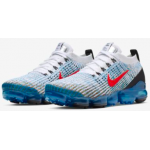 Air VaporMax 3 Flyknit White / University Gold / Photo Blue / Habanero Red Masculino
