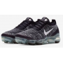 Air VaporMax 3 Flyknit Black / Metallic Silver / White Feminino