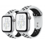 Apple Watch Nike+ Series 4 Silver Aluminum Case with Pure Platinum / Black Nike Sport Band 44mm