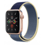 Apple Watch Series 5 Gold Aluminum Case with Alaska Blue Sport Loop
