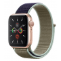 Apple Watch Series 5 Gold Aluminum Case with Khaki Sport Loop