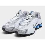 Shox R4 White / University Blue / Metallic Platinum Masculino