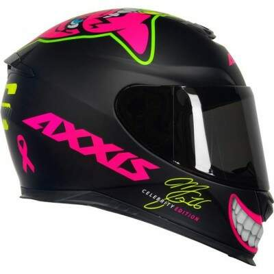 CAPACETE AXXIS EAGLE MG16 CELEBRITY EDITION BY MARIANNY MAT BLACK