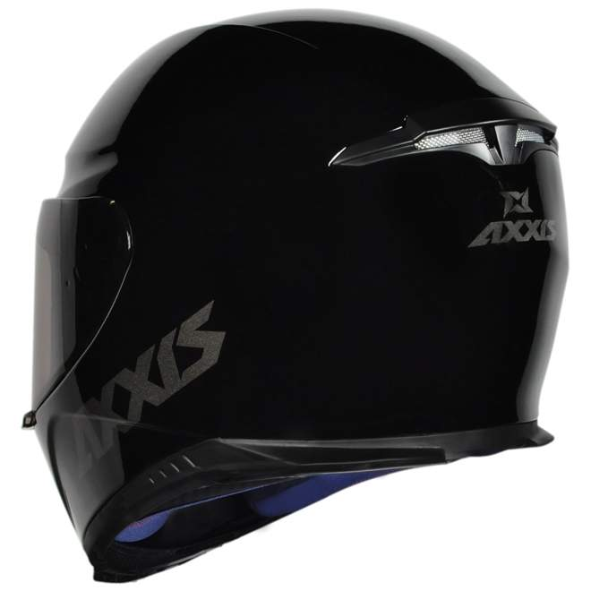CAPACETE AXXIS EAGLE SOLID / MONOCOLOR GLOSS BLACK / GREY