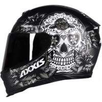 CAPACETE AXXIS EAGLE SKULL MATT BLACK / GREY