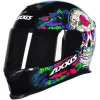 CAPACETE AXXIS EAGLE SKULL GLOSS BLACK / BLUE