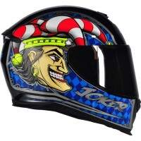 CAPACETE AXXIS EAGLE JOKER GLOSS BLACK / BLUE