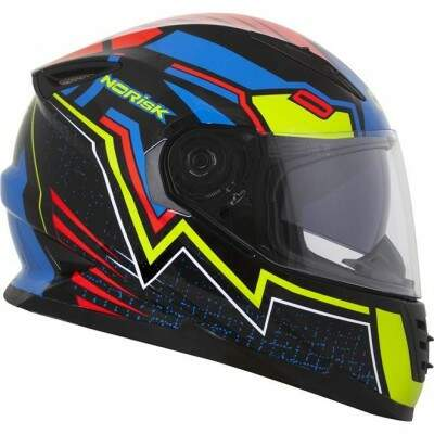CAPACETE NORISK FF302 OCULOS INTERNO WIZARD BLK/BLUE/RED/YELLOW TAM.58
