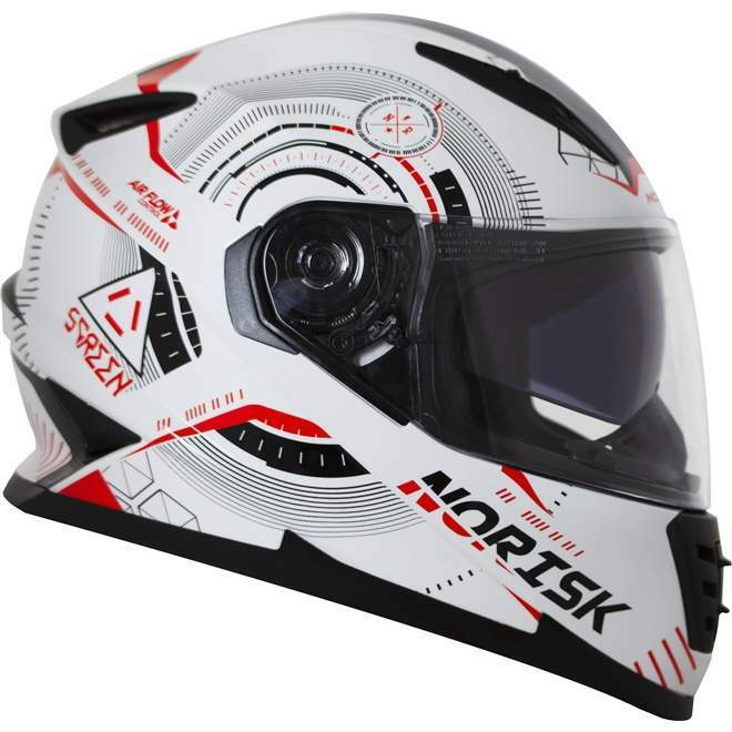 CAPACETE NORISK FF302 OCULOS INTERNO SCREEN BLK/GREY/ORANGE/BLUE TAM.58