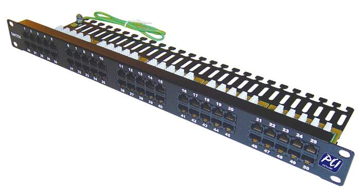 Voice Panel 50 Portas RJ 45 - Cat.3  - 19