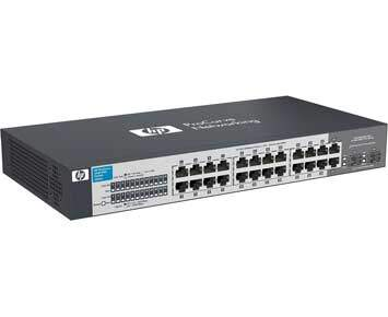 Switch HPN J9561A BR V1410 24G Switch 22 10/100/1000 - HP Network -22 x 10/100/1000Mbps RJ45 + 2x Gigabit Combo