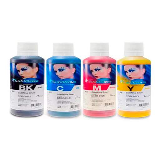 Kit Tinta Sublimática Inktec com 4 Cores - 100ml