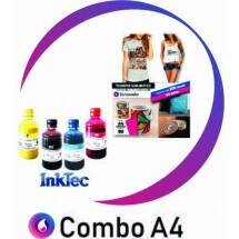 Papel Transfer Sublimático A4 (550 fls) + Kit de Tinta 60 ml (cada cor)