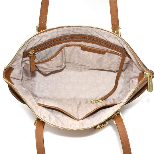 BOLSA DE COURO MICHAEL KORS JET SET EAST WEST - modelo 30F2GTTT8L